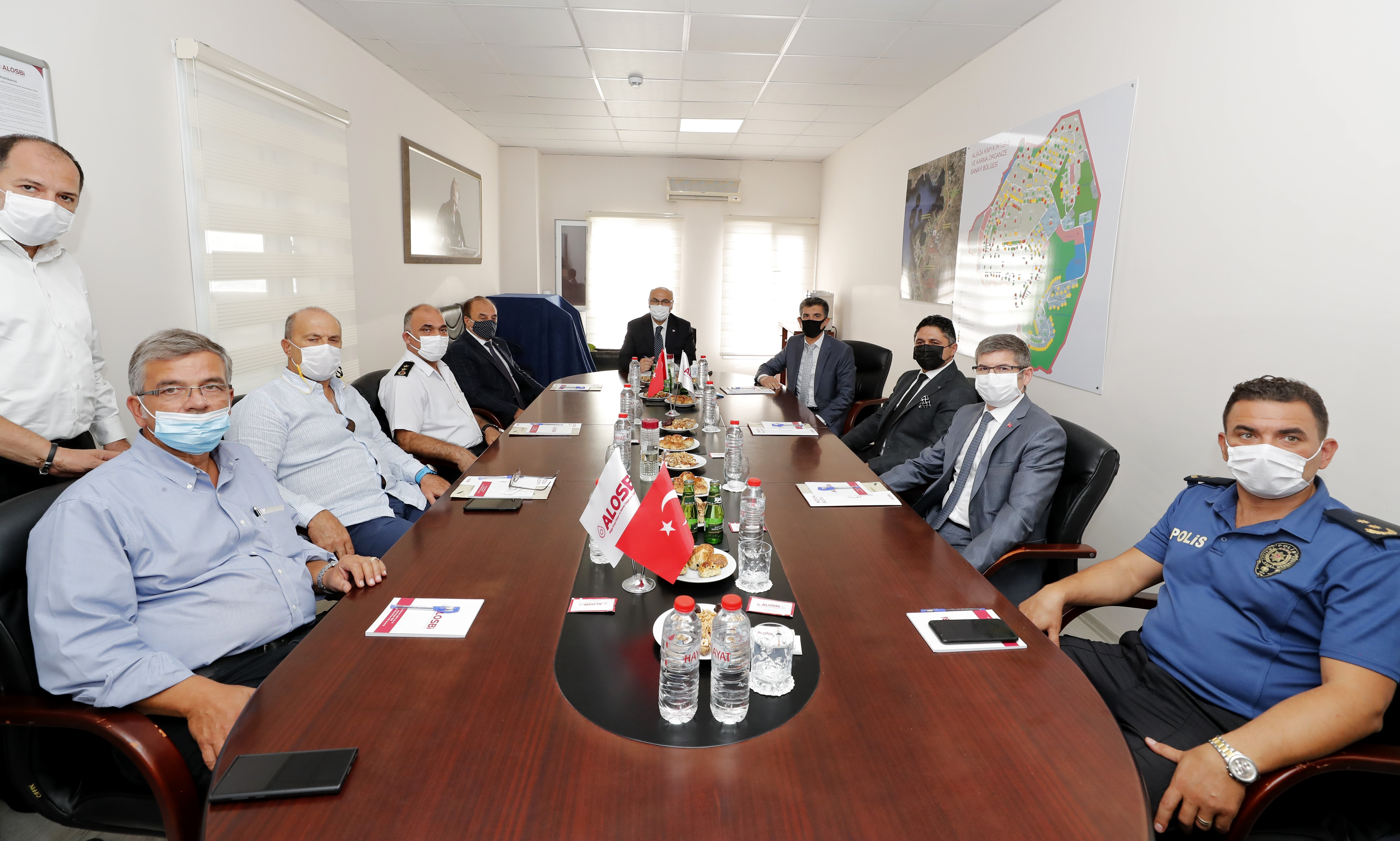 İzmir Valisi Köşger'den ALOSBİ'ye ziyaret
